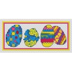 Easter eggs free cross stitch chart