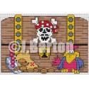 Pirates treasure Cross stitch chart download)