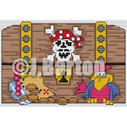Pirates treasure Cross stitch chart download)