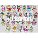 Snowmen alphabet (cross stitch chart download)
