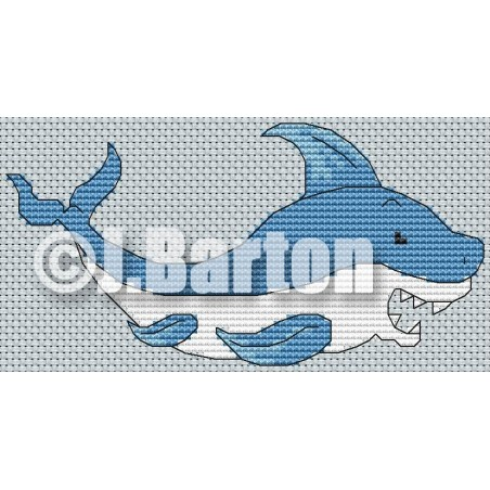 Shark (cross stitch chart download)