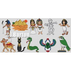 Egyptians collection (cross stitch chart download)