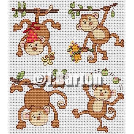 Monkey business (cross stitch chart download)