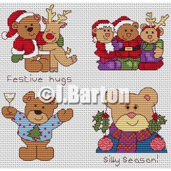 Festive teds (cross stitch chart download)