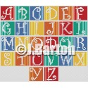 Stripes alphabet (cross stitch chart download)