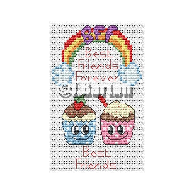Best friends (cross stitch chart download)