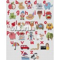 Kids alphabet (cross stitch chart download)