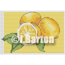 Lemons cross stitch chart