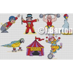 Circus collection cross stitch chart
