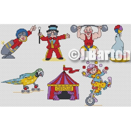 Circus collection (cross stitch chart download)