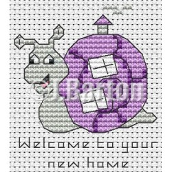 Welcome to your new home (cross stitch chart download)