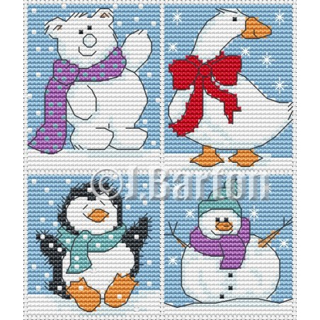 Cute Christmas (cross stitch chart download)
