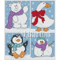 Cute Christmas (cross stitch chart by post)