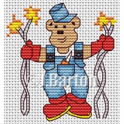 Electrician ted (cross stitch chart by post)