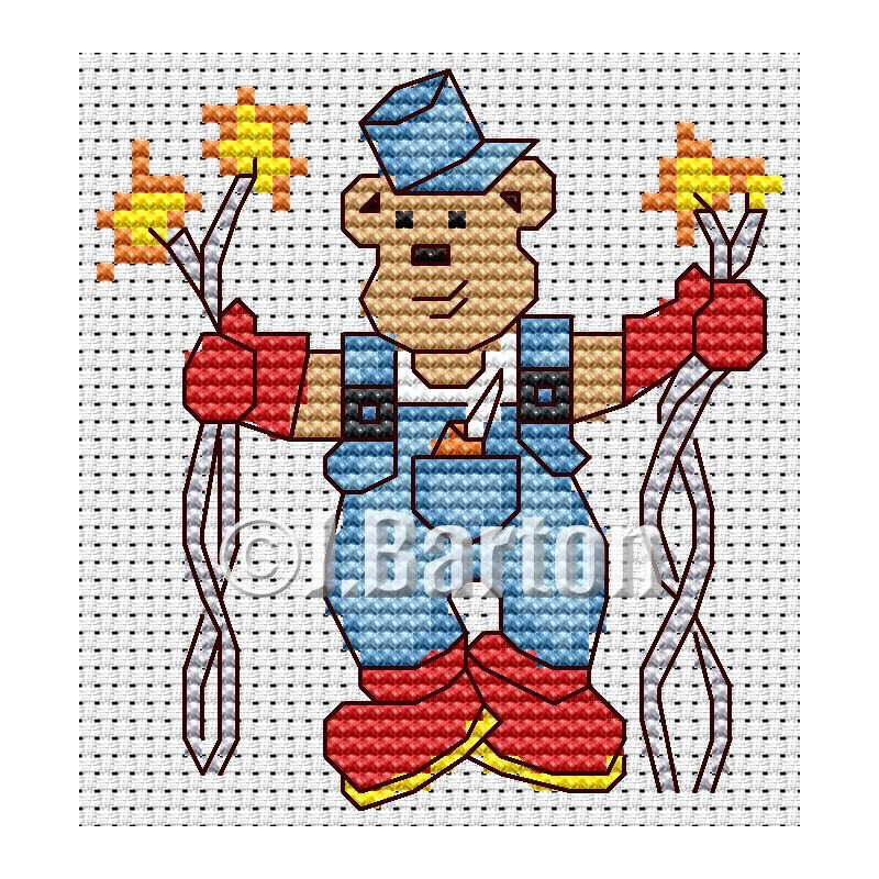 Electrician ted cross stitch chart