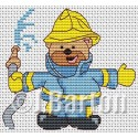 Fireman ted cross stitch chart