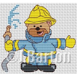 Fireman ted (cross stitch chart download)