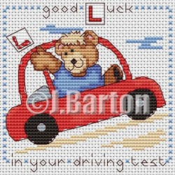 Good luck in your driving test (cross stitch chart download)
