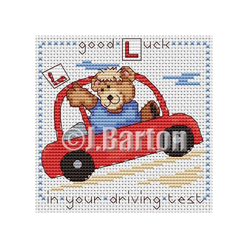 Good luck in your driving test cross stitch chart