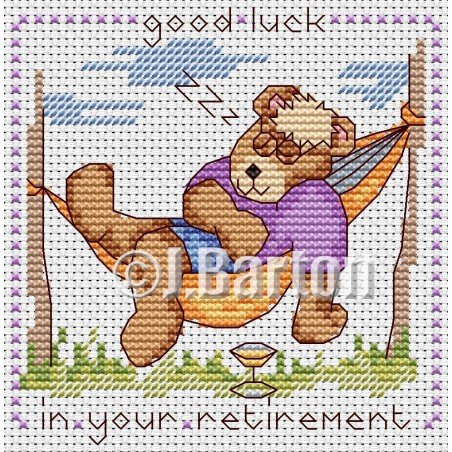 Good luck in your retirement (cross stitch chart download)