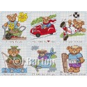 Valentine bears cross stitch chart
