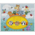 Noah's ark submarine cross stitch chart