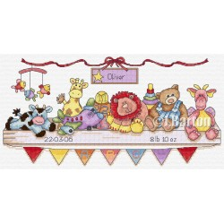 Nursery sampler cross stitch chart