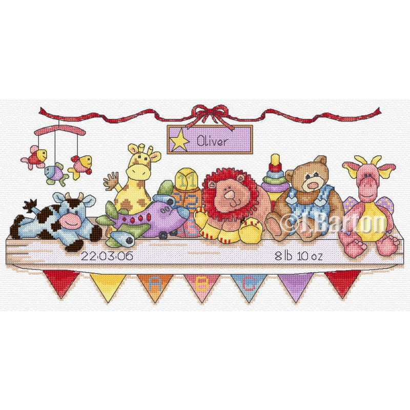 Nursery sampler cross stitch chart