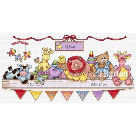 Nursery sampler (cross stitch chart by post)