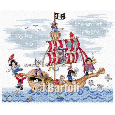 Pirates Ship (cross stitch chart download)