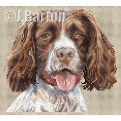 Springer spaniel cross stitch chart