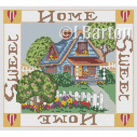 Home sweet home sampler (cross stitch chart download)