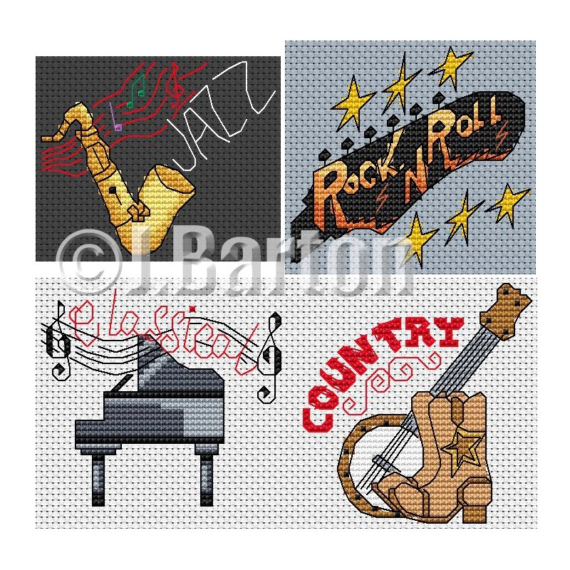 Thank you for the music cross stitch chart