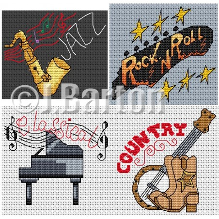 Thank you for the music (cross stitch chart download)