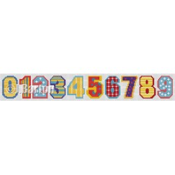 Circus numbers cross stitch chart