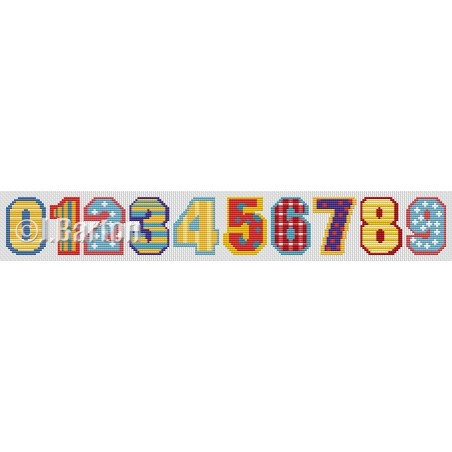 Circus numbers (cross stitch chart download)