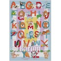 Jungle alphabet cross stitch chart