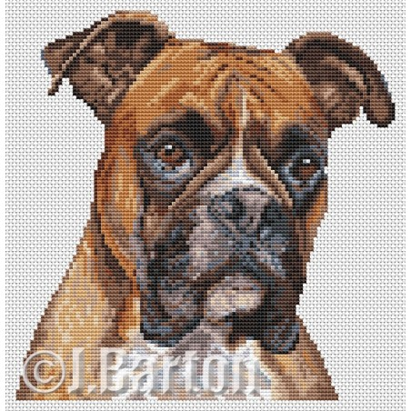 Boxer dog (cross stitch chart download)