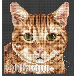 Ginger tom cat (cross stitch chart download)