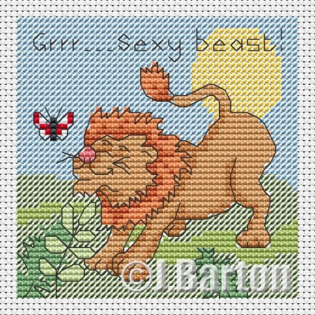 Sexy beast! (cross stitch chart download)