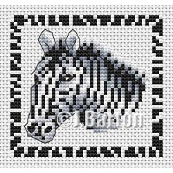 Zebra cross stitch chart