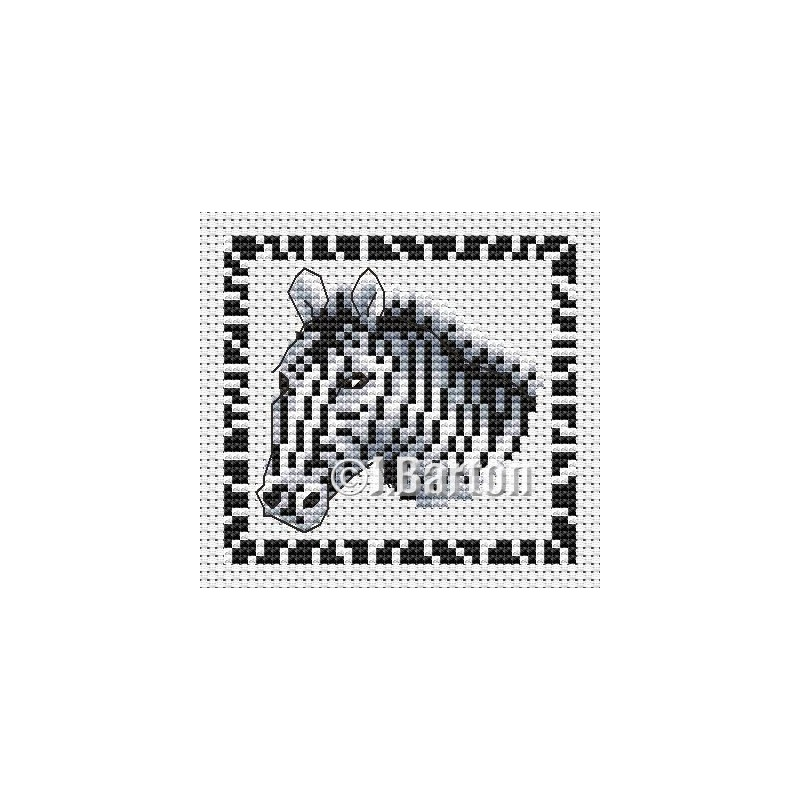 Zebra cross stitch chart