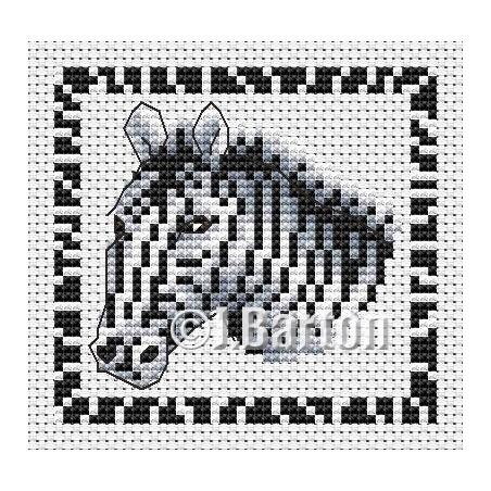Zebra (cross stitch chart download)