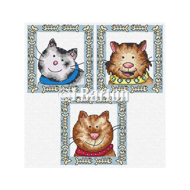 Fun cats cross stitch chart