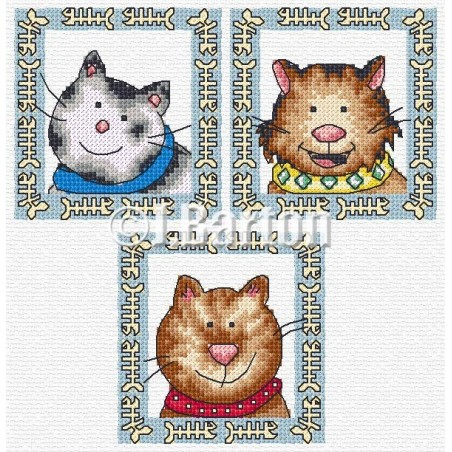 Fun cats (cross stitch chart download)