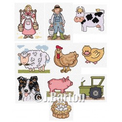 On the farm (cross stitch chart download)