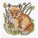 Fox cross stitch chart