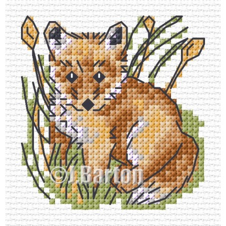 Fox (cross stitch chart download)