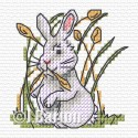 Rabbit cross stitch chart