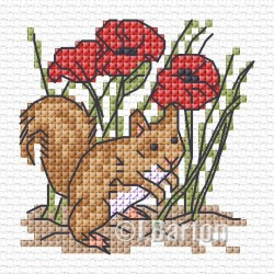 Red squirrel (cross stitch chart download)